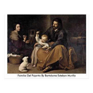 Carte Postale Familia Del Pajarito By Bartolome Esteban Murillo