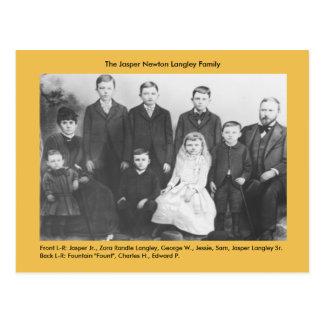 Carte Postale Famille de Newton Langley de jaspe
