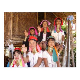 Carte Postale Famille de Padaung