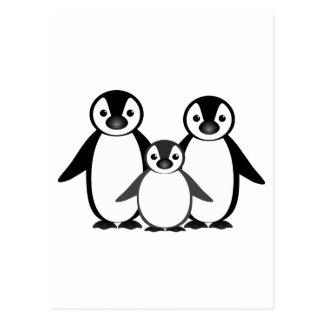 Carte Postale Famille de pingouin