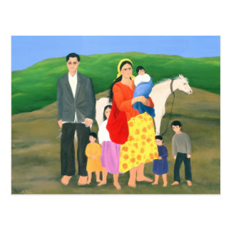 Carte Postale Famille gitane 1986