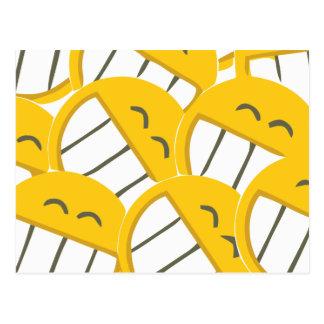Carte Postale Famille jaune