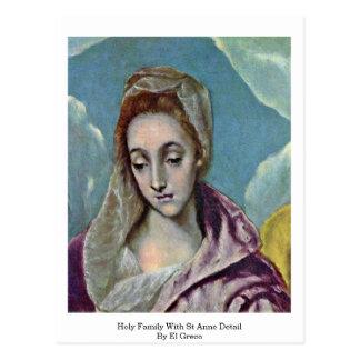 Carte Postale Famille sainte avec le petit groupe de St Anne par