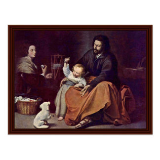 Carte Postale Famille sainte avec l'oiseau