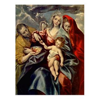 Carte Postale Famille sainte d'EL Greco-