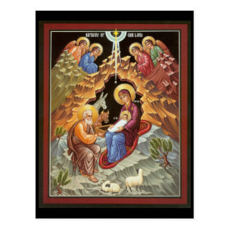 Carte Postale Famille sainte observée par des anges