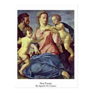 Carte Postale Famille sainte par Agnolo Di Cosimo