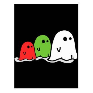 Carte Postale Fantômes italiens heureux Kawaii de Halloween