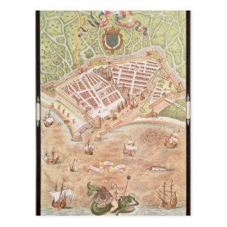 Carte Postale Fascimile d'un plan du Havre