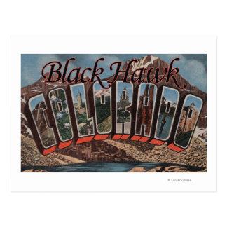 Carte Postale Faucon noir, le Colorado - grandes scènes de