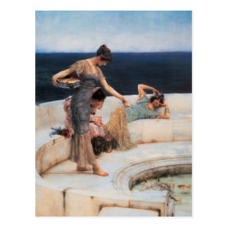 Carte Postale Favoris argentés par Lawrence Alma-Tadema