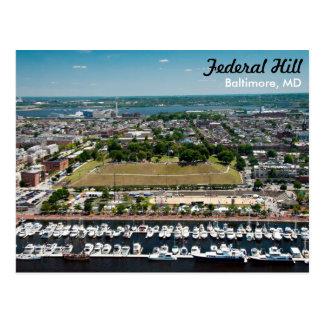 Carte postale fédérale de parc de colline de