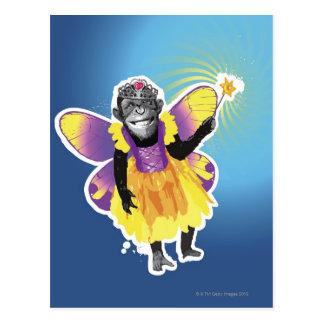 Carte Postale Fée de chimpanzé