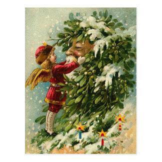 Carte Postale Féerie victorienne et Père Noël de Noël