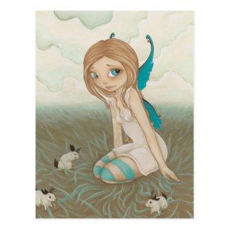 Carte postale féerique de jackalope de prés doux
