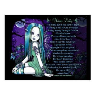 Carte postale féerique de poème de Lilly Myka