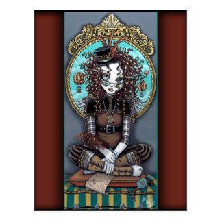 Carte postale féerique punk d'art de vapeur de