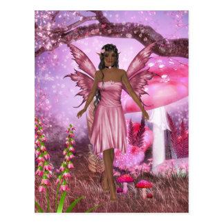 Carte postale féerique rose de jardin
