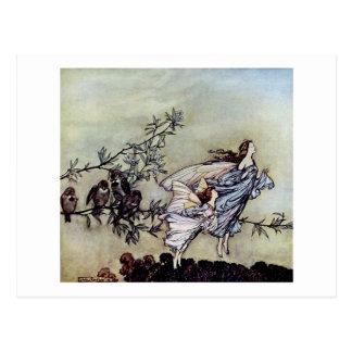Carte Postale Fées de Peter Pan d'art de livre d'Arthur Rackham