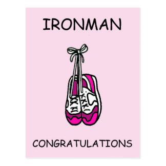 Carte Postale Félicitations de femelle d'Ironman