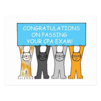 Carte Postale Félicitations sur passer l'examen de CPA