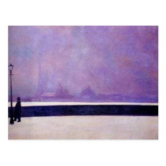 Carte Postale Felix Vallotton - Neva, brouillard léger