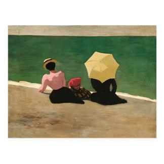 Carte Postale Felix Vallotton - sur la plage