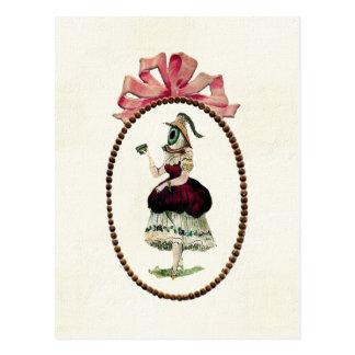 Carte postale femelle d'oeil