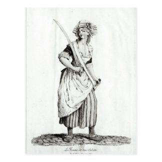Carte Postale Femelle Sans-Culotte, 1792