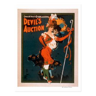 Carte Postale Femme de la vente aux enchères du diable dans le