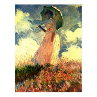 Carte Postale Femme de Monet avec le parasol