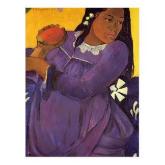 Carte Postale Femme de Paul Gauguin- avec une mangue