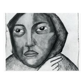 Carte Postale Femme de prière de Kazimir Malevich-