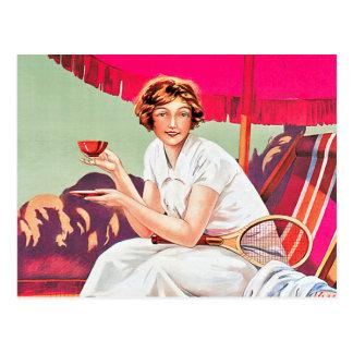 Carte Postale Femme de tennis d'annonce de Phoscao