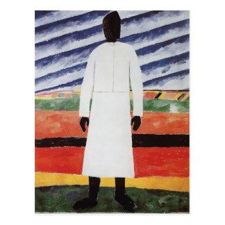 Carte Postale Femme rurale par Kazimir Malevich