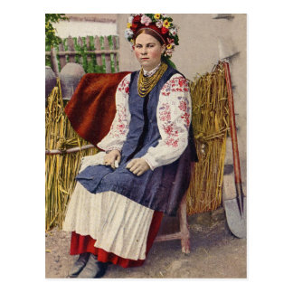 Carte Postale Femme ukrainienne vintage