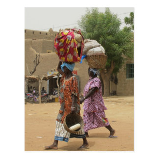 Carte Postale Femmes du Mali au marché de lundi, Djenne-2