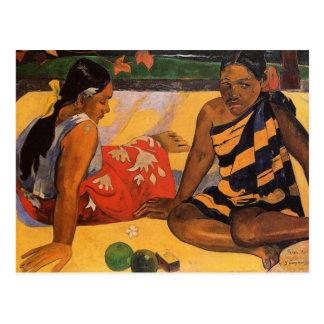Carte Postale Femmes du Tahiti de Polynésie française de Gauguin