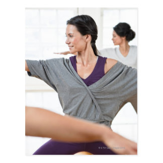 Carte Postale Femmes faisant l'aérobic
