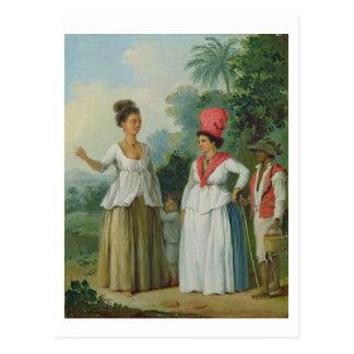 Carte Postale Femmes indiennes occidentales de couleur, avec un