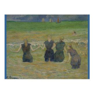 Carte Postale Femmes se baignant par Paul Gauguin
