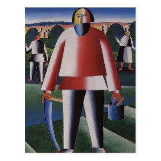Carte Postale Fenaison de Kazimir Malevich-