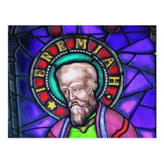 Carte Postale Fenêtre en verre teinté de Jérémie de prophète