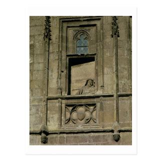 Carte Postale Fenêtre factice dans la façade d'entrée avec un