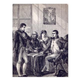 Carte Postale Ferdinand de l'Espagne démissionnant sa couronne