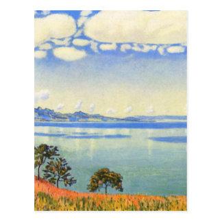 Carte Postale Ferdinand Hodler - le Lac Léman de Chexbres