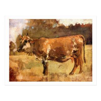 Carte Postale Ferdinand Hodler - vache dans un pâturage