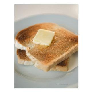 Carte Postale Fermez-vous des pains grillés avec du beurre du