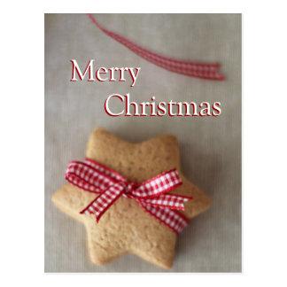 Carte Postale Fermez-vous du biscuit de gingembre attaché avec