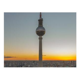 Carte Postale Fernsehturm tour de Berlin, Berlin TV, Allemagne